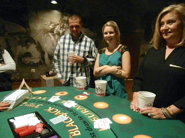 casino themed wedding reception